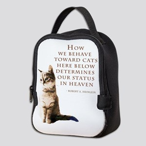 cats-and-heaven-card Neoprene Lunch Bag
