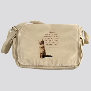 cats-and-heaven-card Messenger Bag