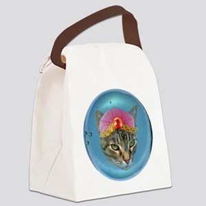 Fortune Cat Canvas Lunch Bag