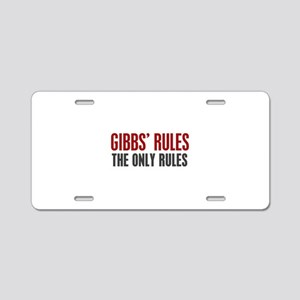 Gibbs' Rules Aluminum License Plate