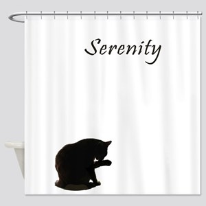 cat-serenity Shower Curtain
