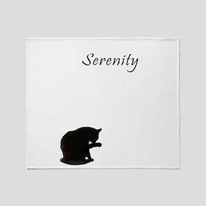 cat-serenity Throw Blanket