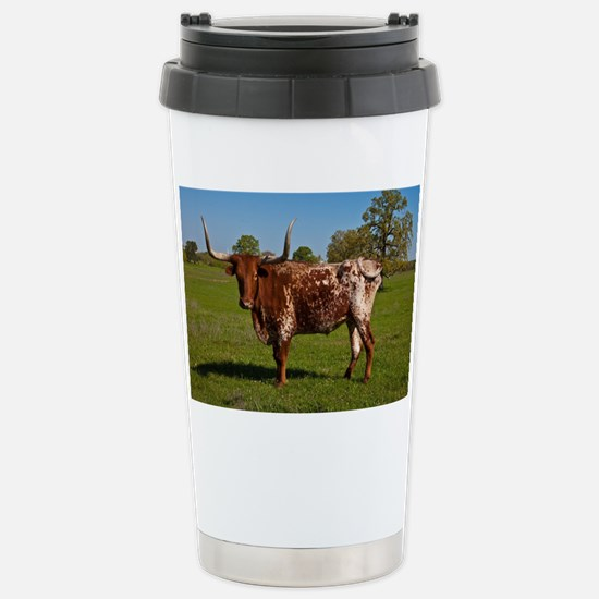 Texas Longhorn Stainless Steel Travel Mug