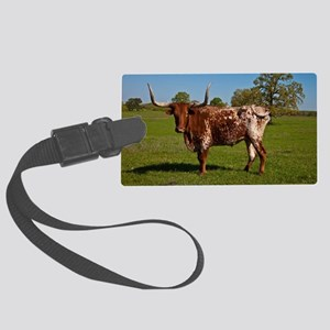 Texas Longhorn Large Luggage Tag