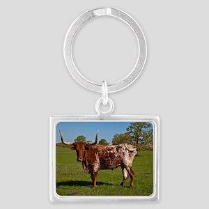 Texas Longhorn Landscape Keychain