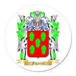 Figairol Round Car Magnet