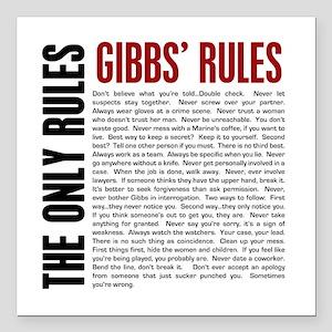"Gibbs' Rules Square Car Magnet 3"" x 3"""