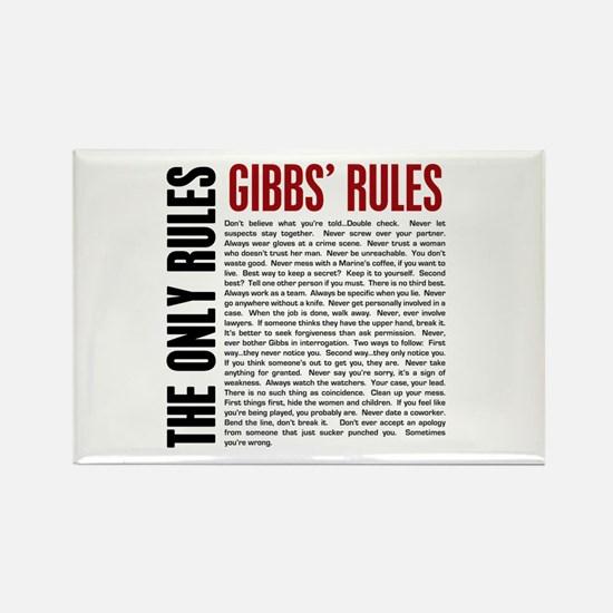 Gibbs' Rules Rectangle Magnet