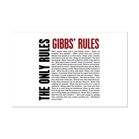 graphic about Ncis Gibbs Rules Printable List identified as Gibbs Posters - CafePress