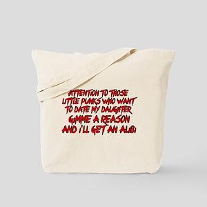 Get an Alibi Tote Bag