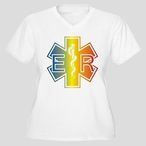 ER multicolor Plus Size T-Shirt