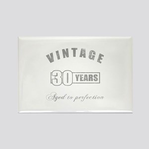 Vintage 30th Birthday Rectangle Magnet