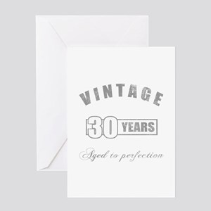Vintage 30th Birthday Greeting Card