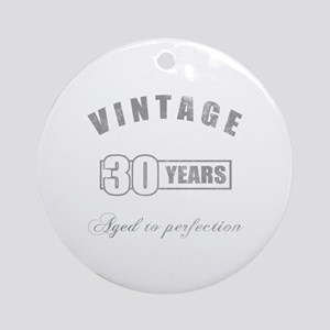 Vintage 30th Birthday Ornament (Round)