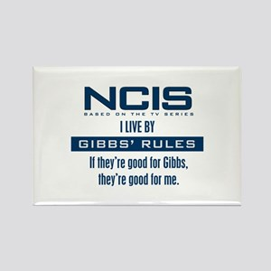 I Live by Gibbs' Rules Rectangle Magnet