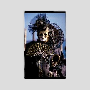 Venetian mask 3'x5' Area Rug