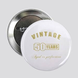 """Vintage 50th Birthday 2.25"""" Button"""