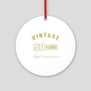 Vintage 50th Birthday Ornament (Round)