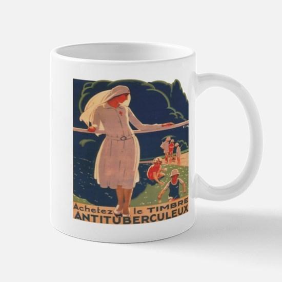 French TB fund raising poster, circa 1920 Mugs