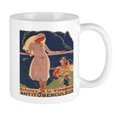 French TB fund raising poster, circa 1920 Mugs