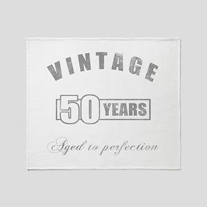 Vintage 50th Birthday Throw Blanket