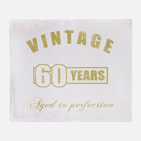 Vintage 60th Birthday Throw Blanket