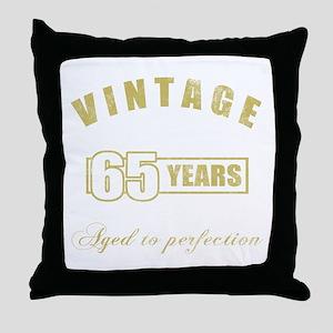 Vintage 65th Birthday Throw Pillow