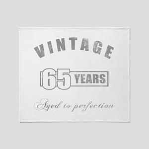 Vintage 65th Birthday Throw Blanket
