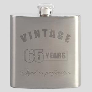 Vintage 65th Birthday Flask