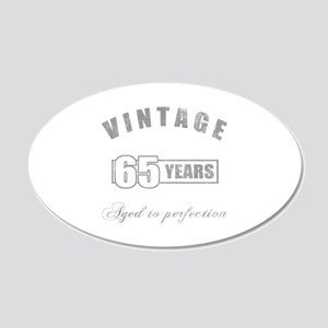 Vintage 65th Birthday 20x12 Oval Wall Decal