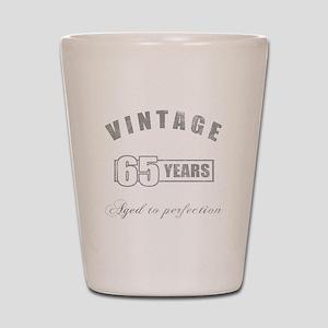 Vintage 65th Birthday Shot Glass