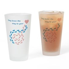 The way to your heart Drinking Glass
