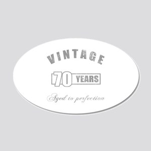 Vintage 70th Birthday 20x12 Oval Wall Decal