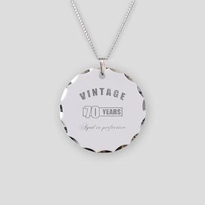 Vintage 70th Birthday Necklace Circle Charm