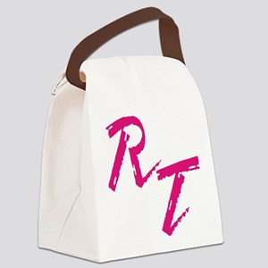 RT, red Canvas Lunch Bag