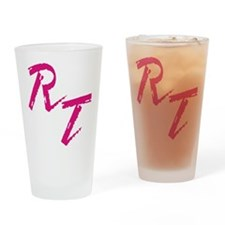 RT, red Drinking Glass