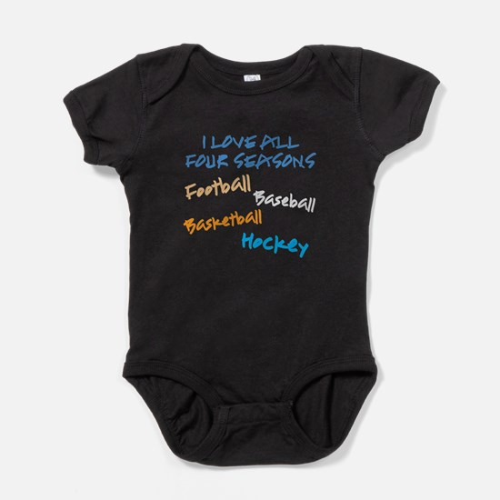 I Love All Four Seasons Baby Bodysuit