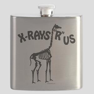 Xrays R us, black on white Flask