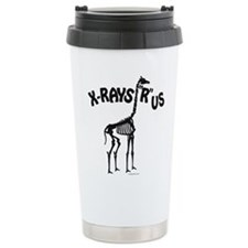 Xrays R us, black on white Travel Mug