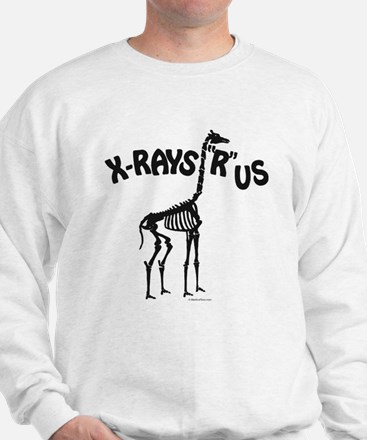 Xrays R us, black on white Sweatshirt