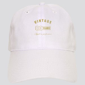 Vintage 80th Birthday Cap