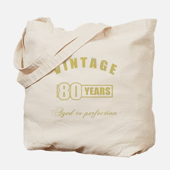 Vintage 80th Birthday Tote Bag