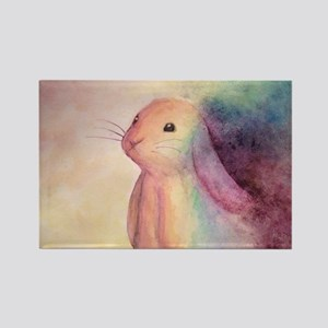 Rainbow Rabbit Rectangle Magnet