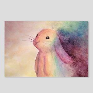 Rainbow Rabbit Postcards (Package of 8)