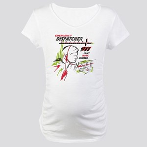 911 dispatcher, red and green Maternity T-Shirt