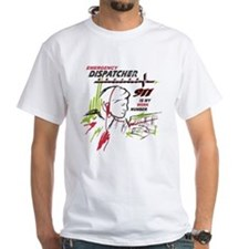 911 dispatcher, red and green T-Shirt