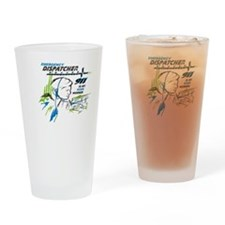 911 Dispatcher, blue and green Drinking Glass