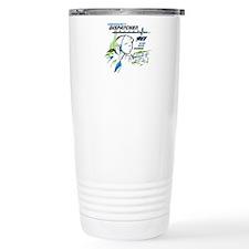 911 Dispatcher, blue and green Travel Mug
