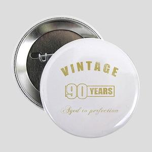"""Vintage 90th Birthday 2.25"""" Button"""