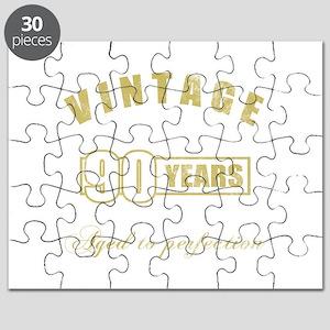 Vintage 90th Birthday Puzzle